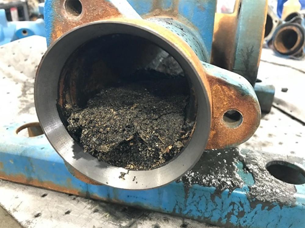 damaged centrifugal pump