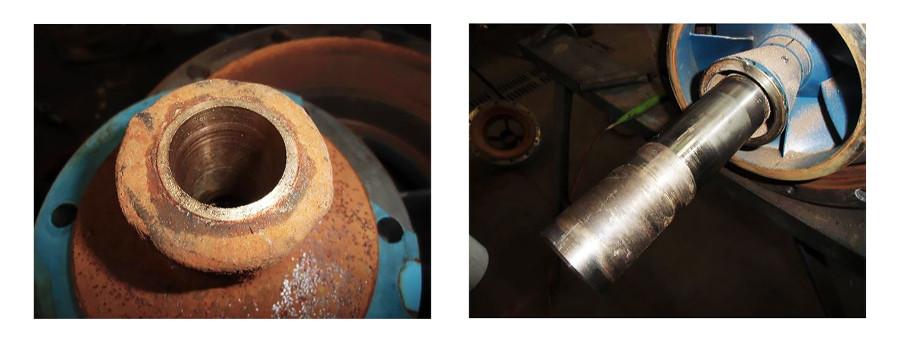 damage to the stuffing box bearing and bottom shaft