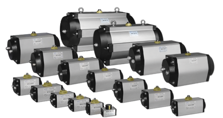 various actuators of many different sizes