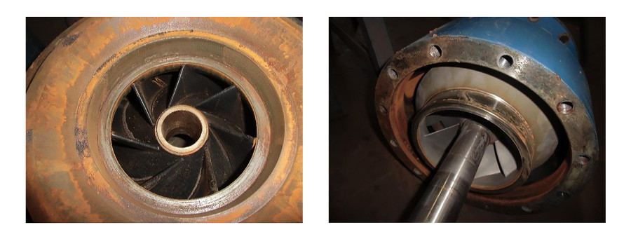 damage to the second impeller ring