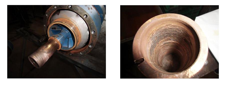 damage to a suction bowl bearing