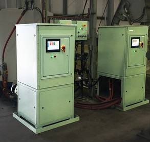 Automated dual batching system that pumps, meters, and circulates liquid chemicals for batch process with the ability for manual operations and inventory control