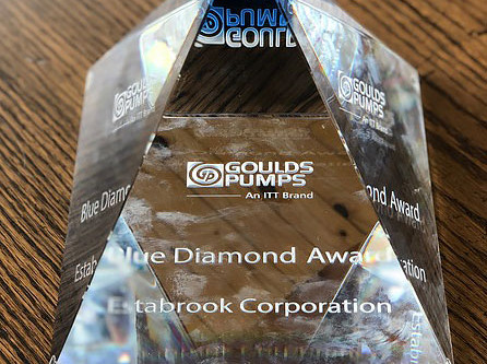 ITT Goulds Pumps Recognizes Estabrook Corporation With a Blue Diamond Award