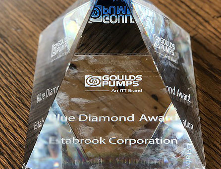 ITT Goulds Pumps Recognizes Estabrook Corporation With a Blue Diamond Award