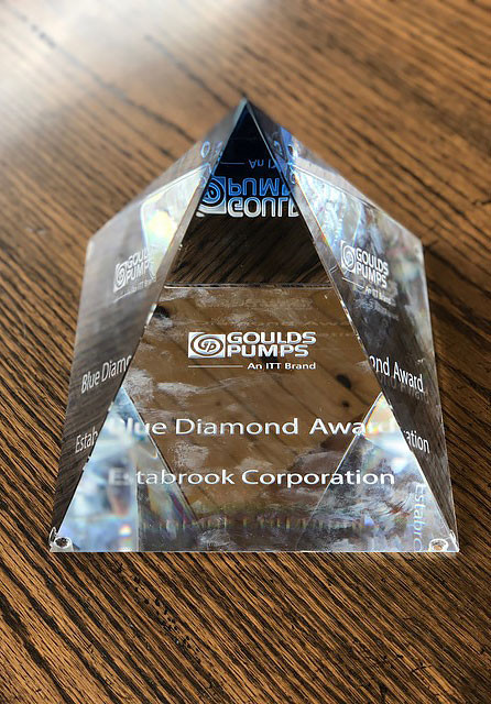 itt goulds pumps blue diamond award