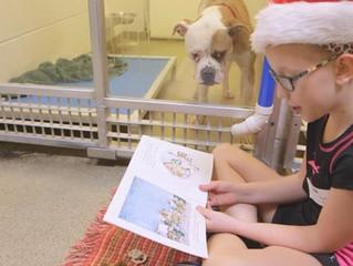 Shelter Buddies Reading Program: bambini leggono le favole ai cani abbandonati
