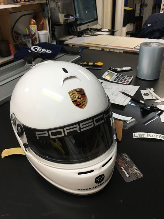 Custom racing helmet graphic from Richbo