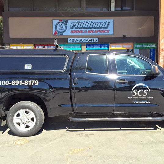 Custom vehicle  graphic fr RUCHBIND SIGN