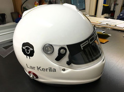 Custom racing helmet graphic from Richbo