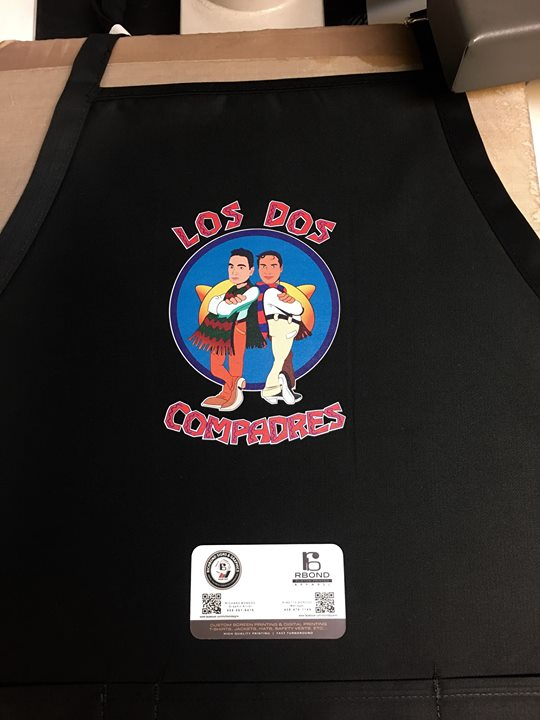 Custom printed aprons ! Richbond signs