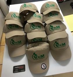 Custom printed hats one color logo ! $ 1