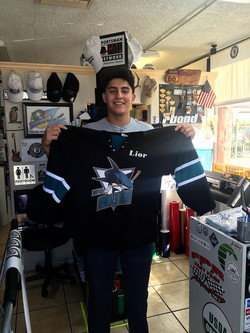 Custom printed jersey for hockey!! Happy