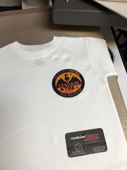 Custom printed shirts! Richbond signs