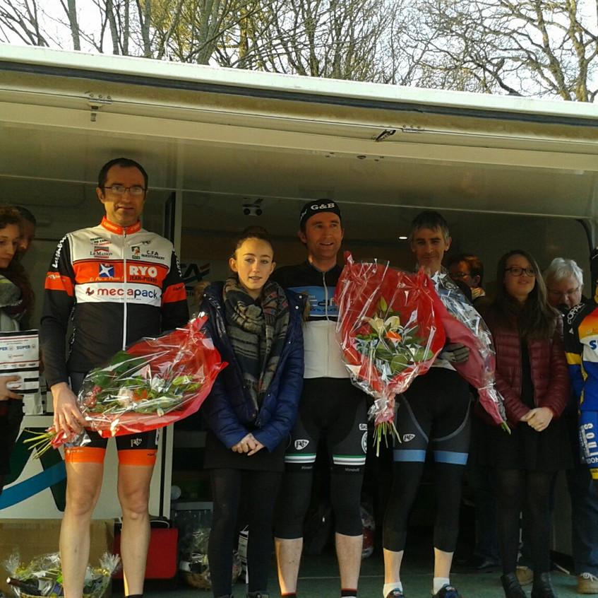 Gael podium La chapelle caro pass  13 03 2016