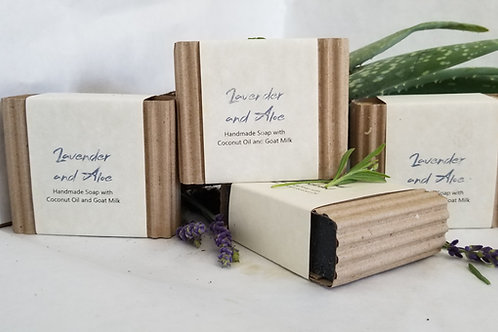 Lavender & Aloe Bar Soap (Goat Milk, 79% Organic, Aloe, All Natural