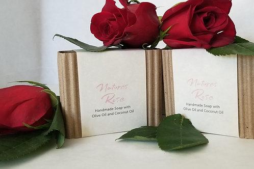 Nature's Rose Soap Bar ( Vegan 85% Organic)