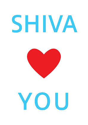"Poster ""Shiva Loves You"""
