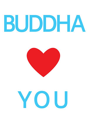 "Poster ""Buddha Loves You"""