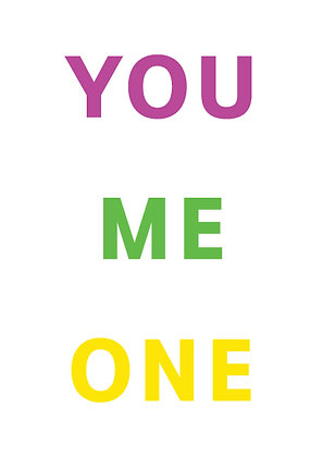 "Poster ""You Me One"""