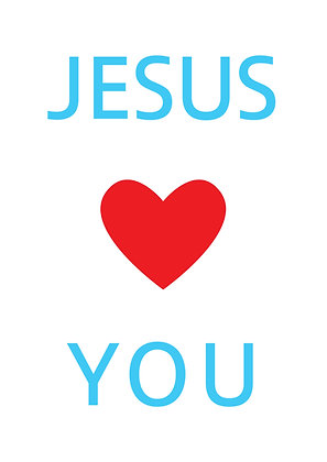"Poster ""Jesus Loves You"""