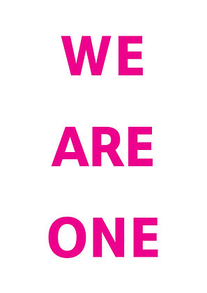 "Poster ""We Are One"""