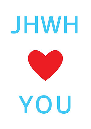 "Poster ""Jahweh Loves You"""