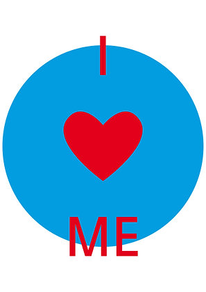 "Poster ""I Love Me"""