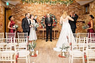 Wedding Ceremony Apton Hall White Christ