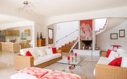 Living room fireplace lobby