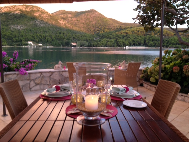 The breathtaking views over dinner