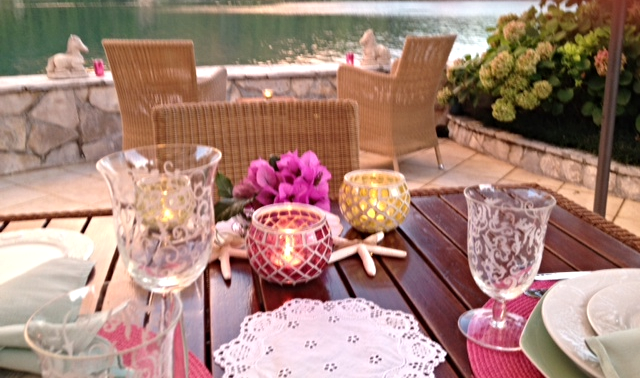 Evening dinner on the terrace