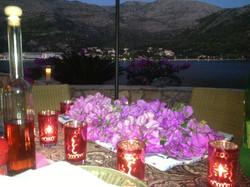 Evening terrace dining