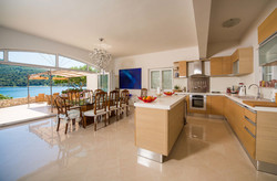Kitchen indoor and outdoor dining