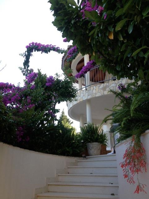 Stairway entrance to Villa Almadria