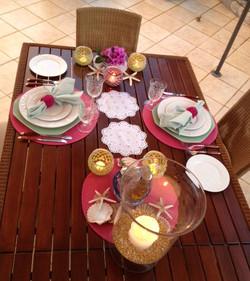 The beautiful table settings