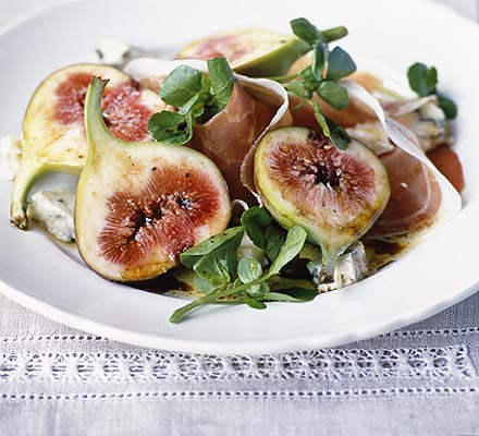 Fresh figs and Proscuitto