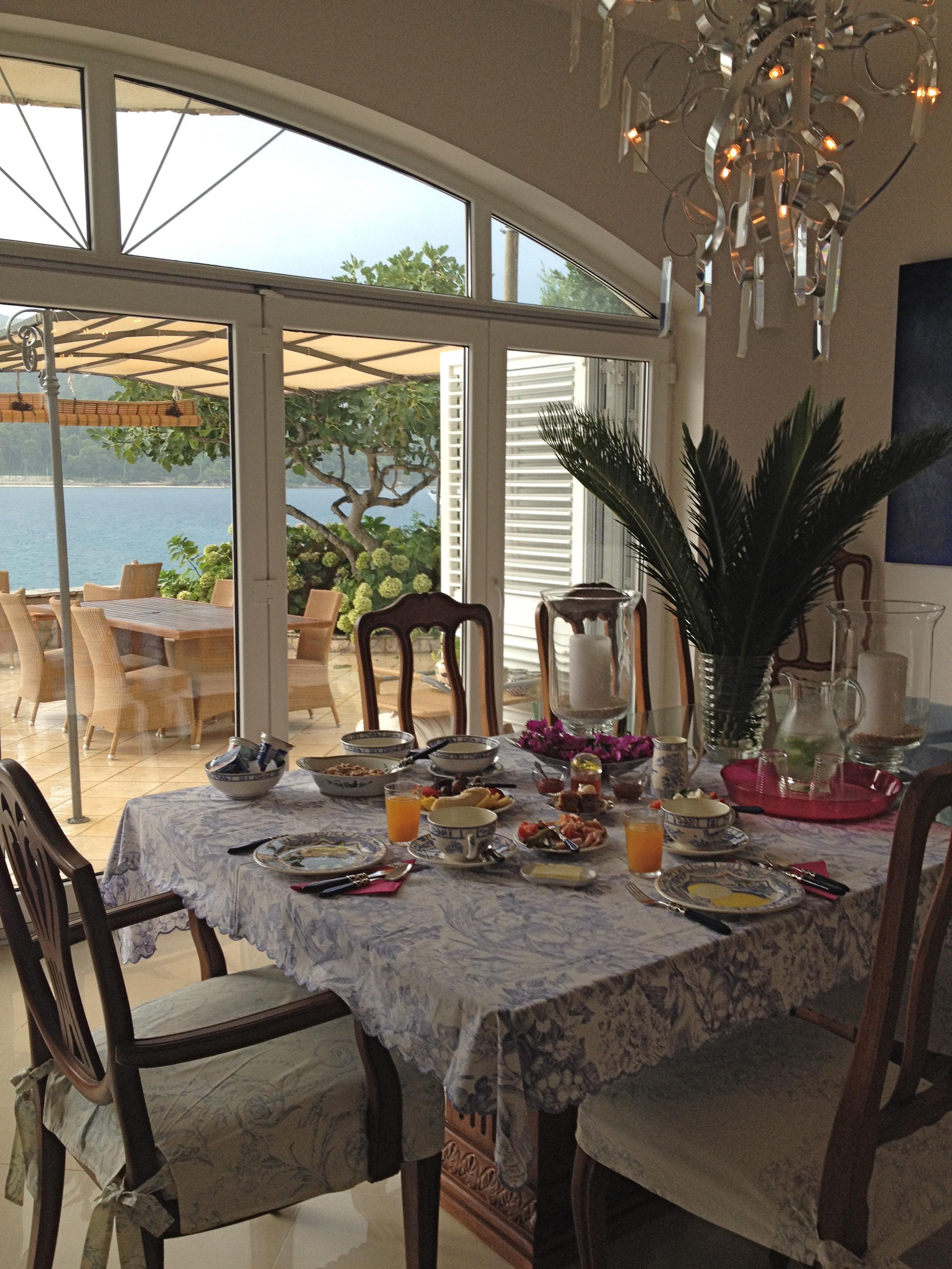 Breakfast indoors