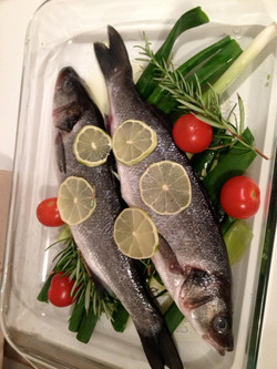 Fresh fish for the oven