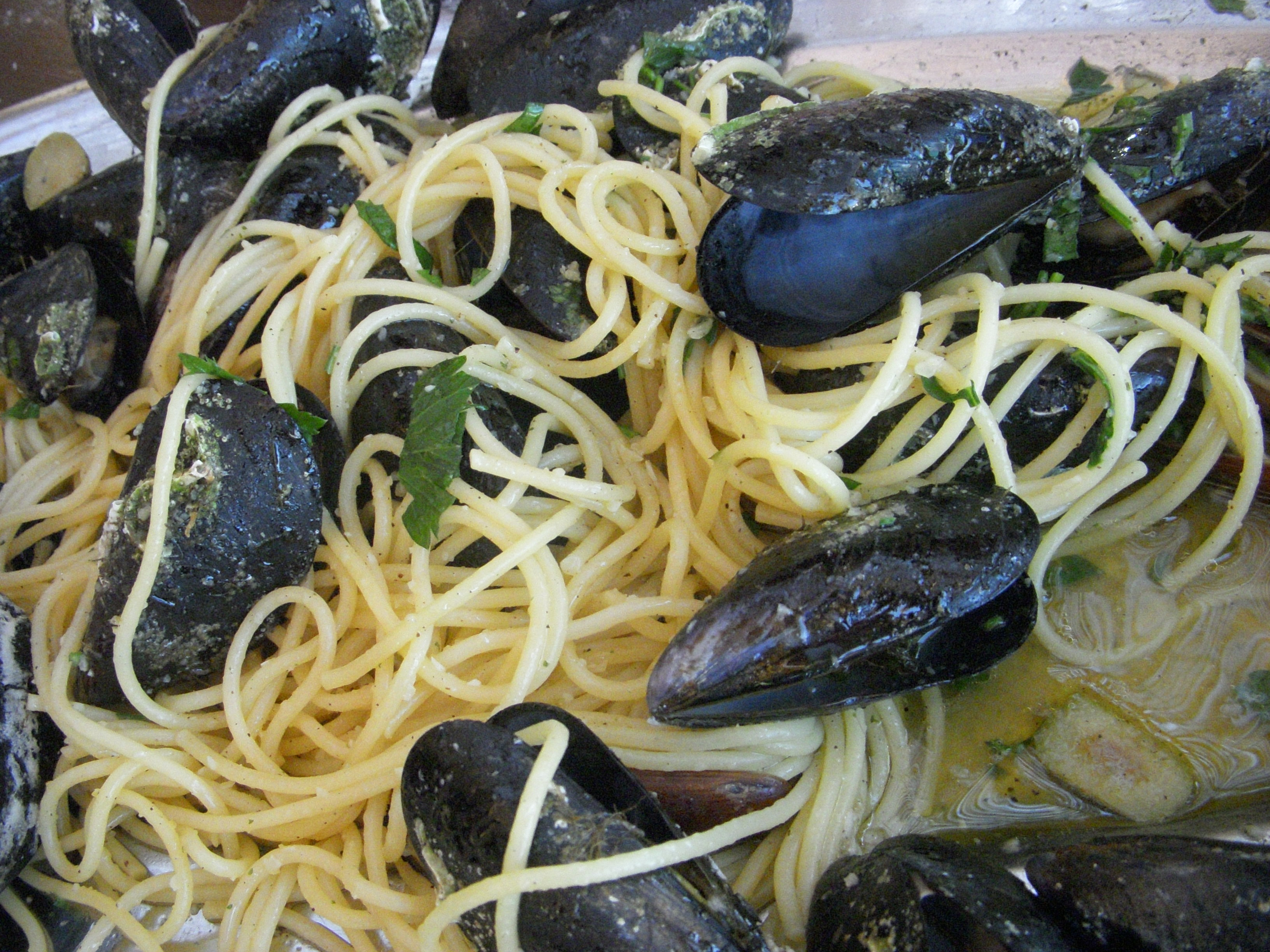 Spaghetti with mussels from Ston