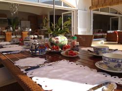 Buffet Breakfast Setting