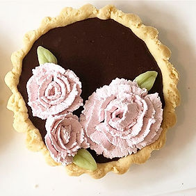 #flowers #tart #vegan #chocolate #orlean