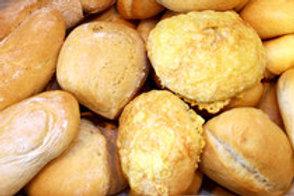 Brötchen aus hellem Weizenmehl