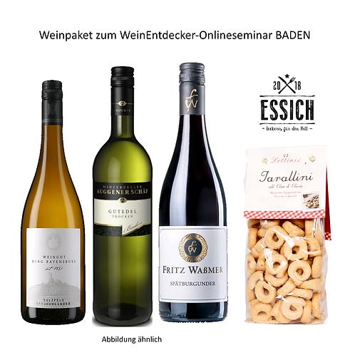 Wein-Entdecker-Paket Baden mit Gutedel, Grauburgunder und Spätburgunder