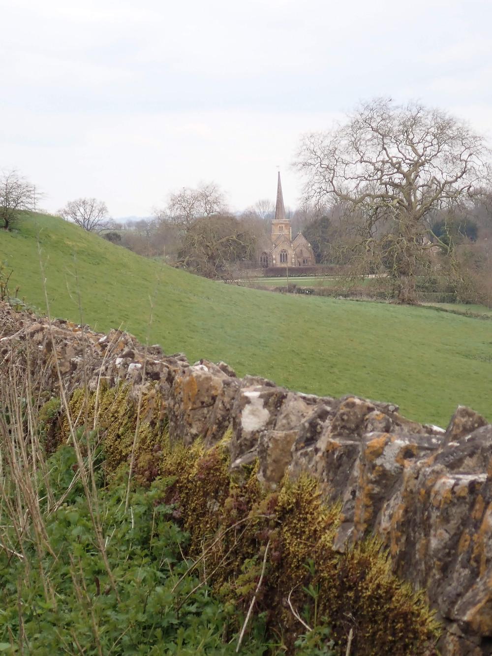 A distant church spire