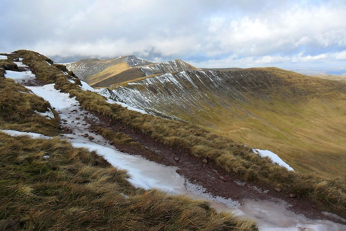 Walking the Brecon Beacons in winter