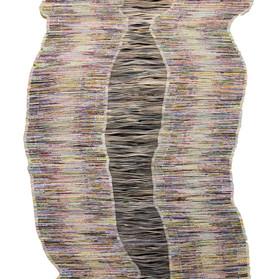 Echo, Folded Paper on Plywood, 135x80cm,