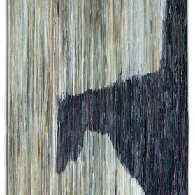Horse, Folded paper on plywood, 240x120c