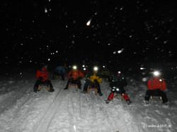 Webseite BilderNachtschneeschuh-Rodeln