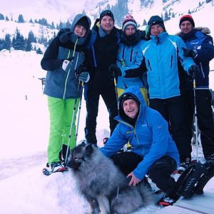 Bergweihnachtsfeier im Schnee