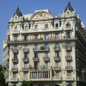 Barcelona building near waterfront.JPG
